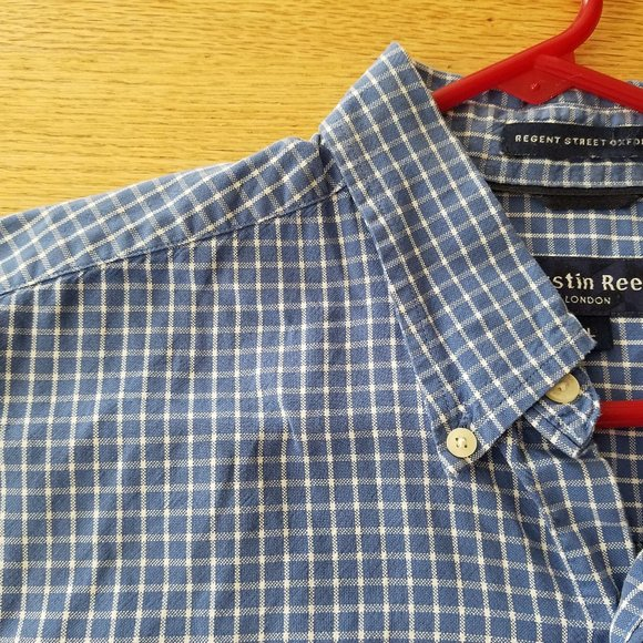 Austin Reed Shirts Mens Blue White Plaid Shirt L Poshmark